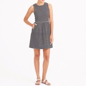 J. Crew Black and White Striped Dress
